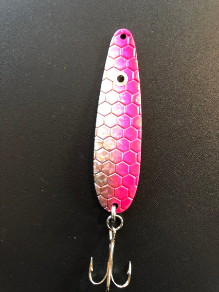 Pink High Flash Trolling Spoon