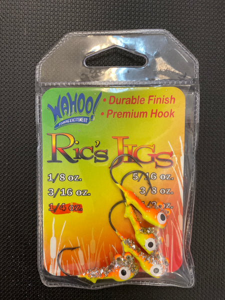 Ricks jigs 1/4oz Orange/Yellow