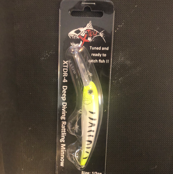 "Xtackle 4"" Chartreuse Zebra"