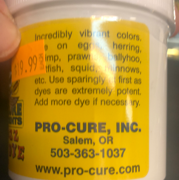 Pro Cure bad ass bait dye (deep purple)