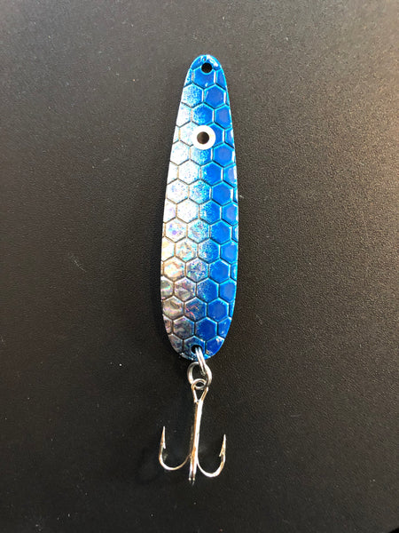 Blue High Flash Trolling Spoon