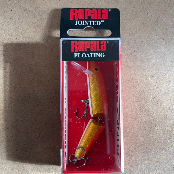Rapala J-7 gold fluorescent red
