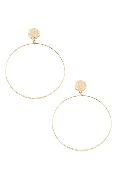 Textured hoop earring - SimplyMorgans Boutique