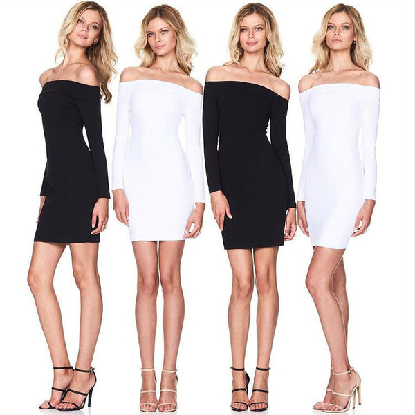 Shoulder Dresses - SimplyMorgans, - Clothing