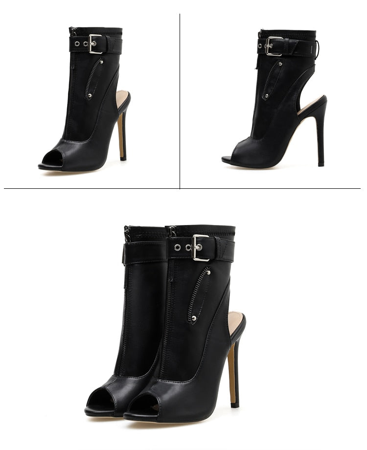 Thin Heel Ankle Boots