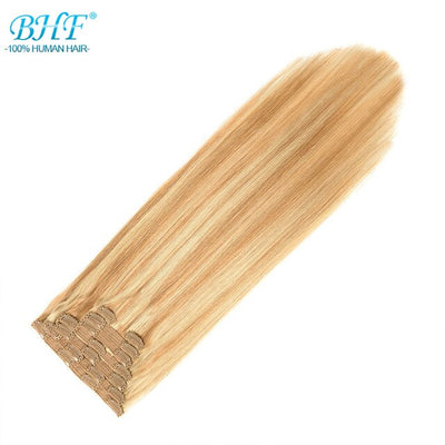 BHF Clip in Human Hair Extensions 100% Remy Natural Human Hair Full Head 70g to 140g Clip Ins
