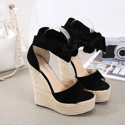 Wedge Sandals Female Platform Bohemia High Heel Sandals
