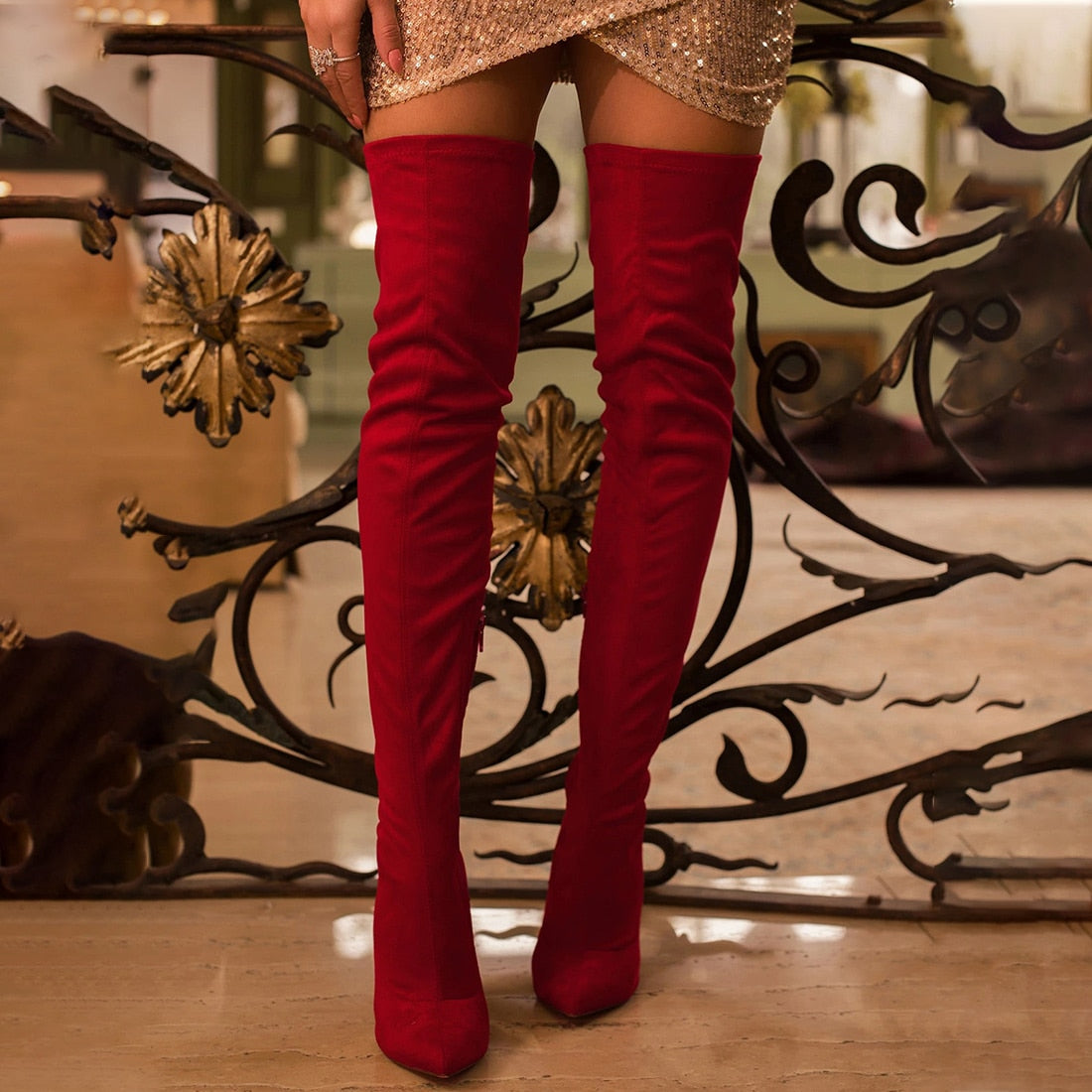 Ladies Shoes High Heel Over The Knee Boots