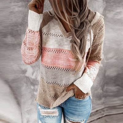 Patchwork Hooded Sweater
