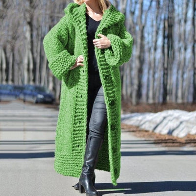 Hooded Oversized Plus Size Sweaters Thick Warm Cardigan