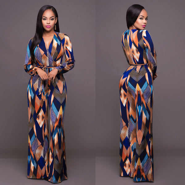 New fashion brandfull sleeve maxi Jumpsuit - SimplyMorgans, - Clothing