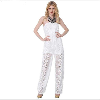 Lace Strapless Jumpsuits - SimplyMorgans Boutique