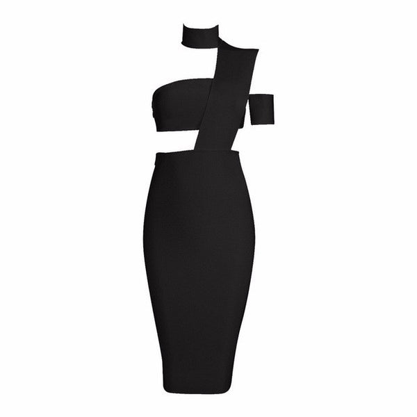 New Cut Out One Shoulder Sexy Bandage Dress - SimplyMorgans, - Clothing