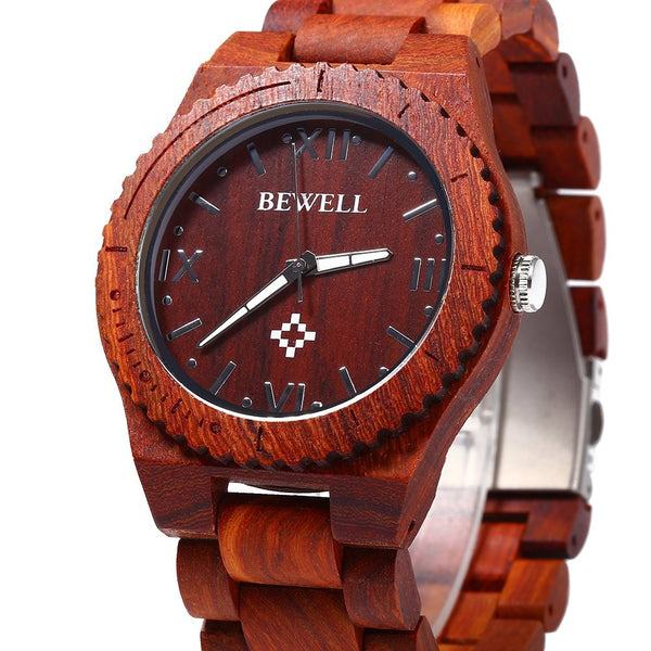 Wood Men Quartz Watch Waterproof - SimplyMorgans, - Clothing