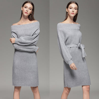 Strapless Off Shoulder Sweater Dress - SimplyMorgans Boutique