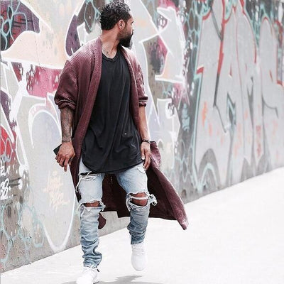 Kanye West Skinny Ripped Jeans For Men - SimplyMorgans Boutique