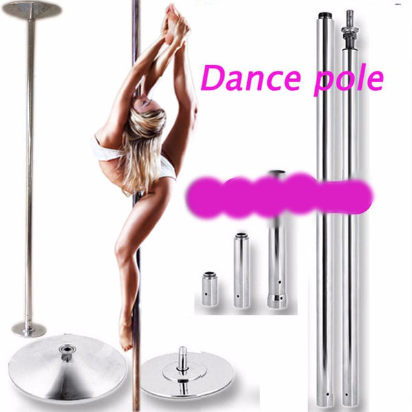 360 Spin Professional Exercise Workout Dance Pole Removable - SimplyMorgans, - Clothing