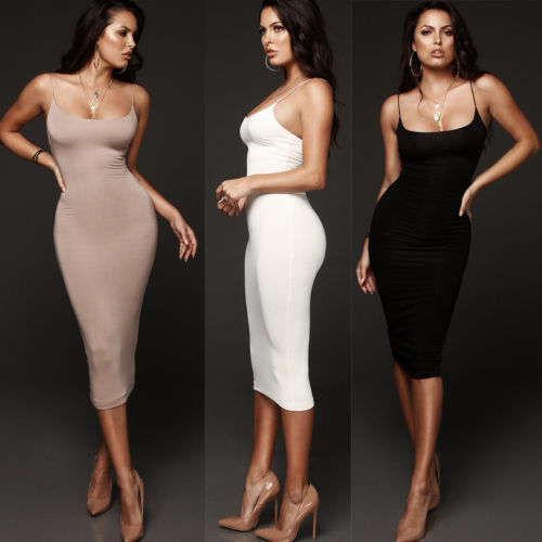 V-Neck Pencil Dress