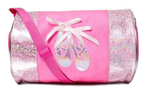 IRIDESCENT BALLET SLIPPERS DANCE DUFFEL