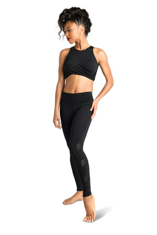 Leggings w/Mesh Insert, Adult