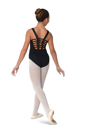 Wear Moi Mock Neck Mesh Polka Dot Leotard