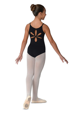 Danz N Motion Empire Front Seam Leotard/ flower cut out back