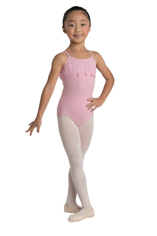 Danz N Motion Chiffon Pleated Yoke Leotard - Lavender