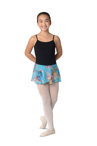 Danz N Motion Blue Flower Skirt