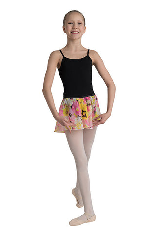 Danz N Motion Pink and Yellow Short Circle Skirt