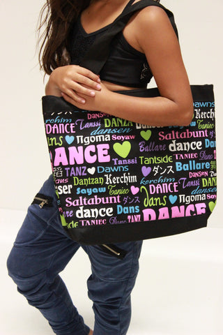 Multi Color and Black Dance Bag