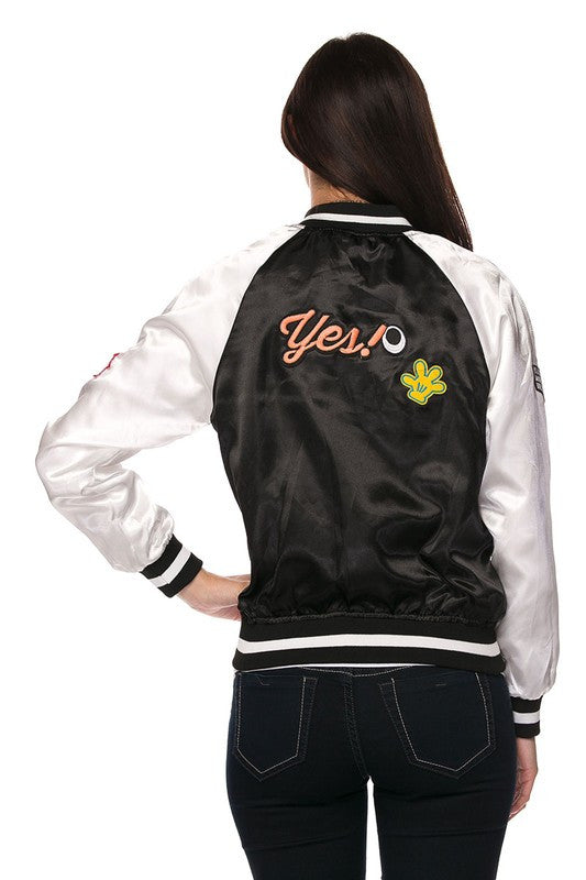 Patch Design Bomber Jacket - Youth