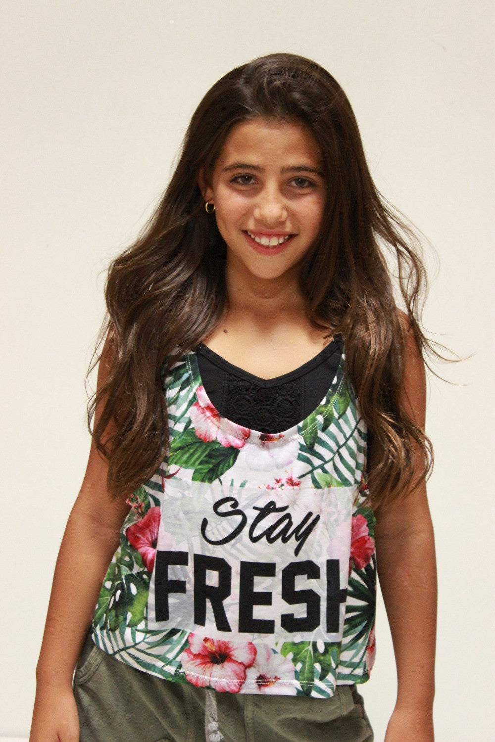 STAY FRESH CROP TANK
