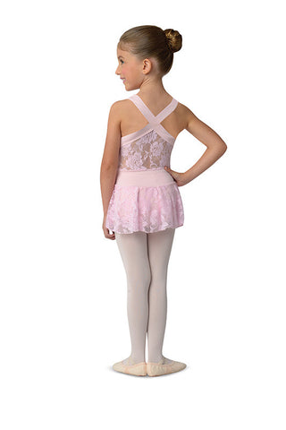 Danz N Motion Leotard with Lace Back and attached Lace Skirt