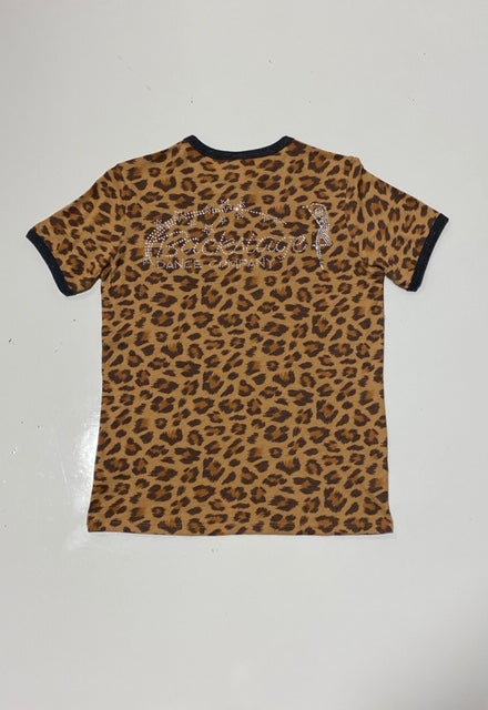 Leopard Print Short Sleeve Shirt (youth)