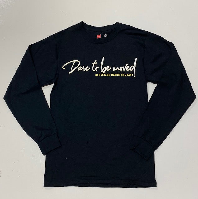 LONGSLEEVE Dare To Be Moved Black (adult)