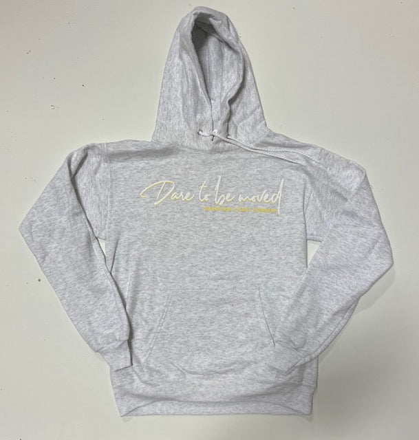 Dare To Be Moved Hoodie Grey (Adult)