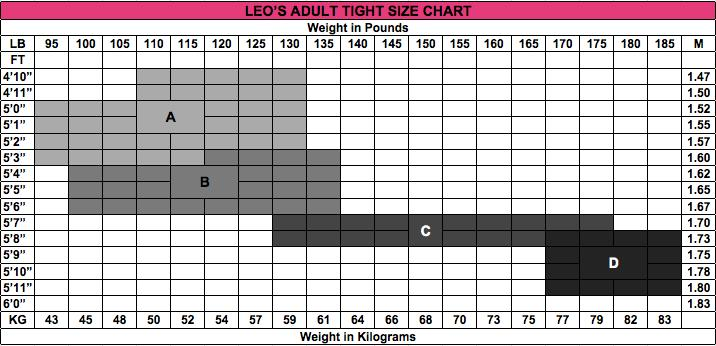 Leo Adult Convertible Supplex Tights