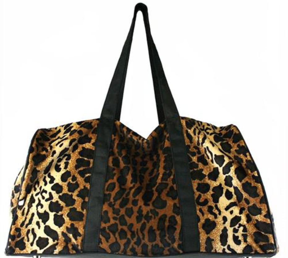 Faux Fur Leopard Duffle Bag