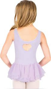 Danz N Motion Heart Back Tank Dress Leotard