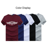 Mens Casual Cotton Printing Tees O-Neck Slim Fit Short Sleeve T-shirt