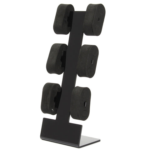 6 Black Acrylic Jewelry Watch Display Rack