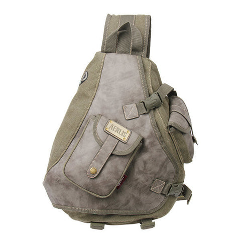 AERLIS Men Canvas Retro Multifunctional Chest Shoulder Bag - shechoic.com
