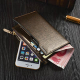 Men Middle Long Casual Business Wallet Cash Cards Coins Bags