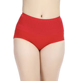 Women Cosy Breathable Cotton Jacquard Panties Soft High Waist Underwear