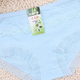Women Cosy Bamboo Fiber Antibacterial Panties Breathable Lace Briefs Underwear