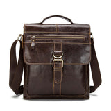 Men Business Genuine Real Leather Casual Coffee Messenger Crossbody Bag Handbag Briefcase