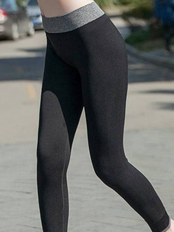 Women Cosy Yoga Running Ninth Pants Elastic Tights Sportwear Leggings