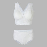 Women Sexy Lace Embroidered Bra Set Seamless Wireless Sleeping Vest Bra Sets