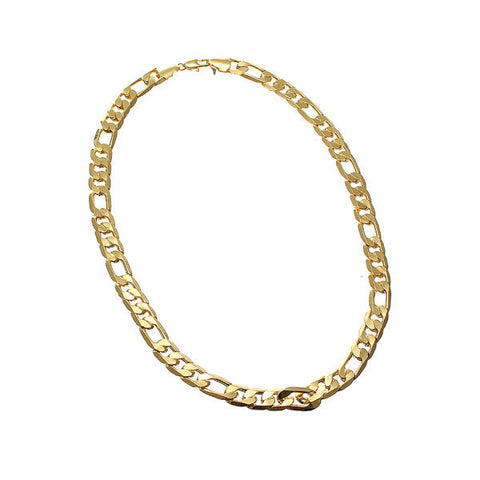 18K Gold Plated Geometric Curb Necklace