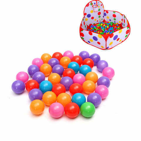 100PCS 5.5cm Soft Plastic Ocean Ball Secure Kid Pit Toy Swim Colorful Ball Toy